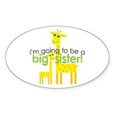 Big Sister To Be Giraffes Rectangle Decal