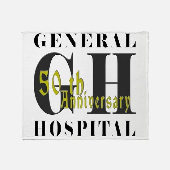 General Hospital 50th Black Throw Blanket
