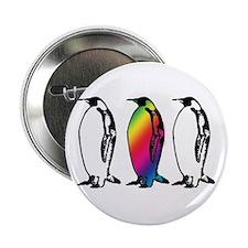 """Rainbow Penguin 2.25"""" Button"""