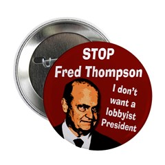 Stop Fred Thompson Button
