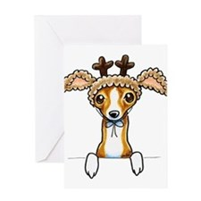Unique Greyhound holiday Greeting Card