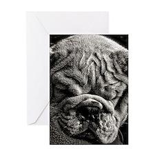 English Bulldog Puppy Art Greeting Cards