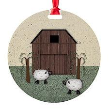 Primitive Barn Ornament