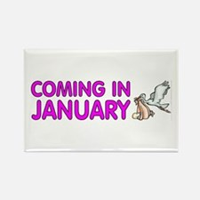 Coming in January - Rectangle Magnet