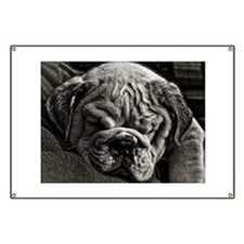English Bulldog Puppy Art Banner