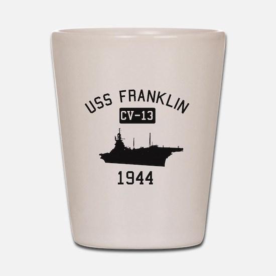 USS Franklin 1 Shot Glass