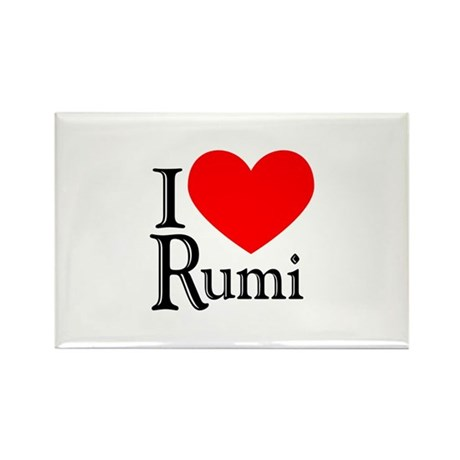 I Love Rumi Rectangle Magnet