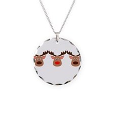 Red Nosed Reindeer Friends Necklace