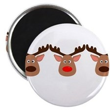 Red Nosed Reindeer Friends Magnets