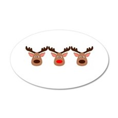 Red Nosed Reindeer Friends Wall Decal
