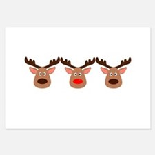 Red Nosed Reindeer Friends Invitations