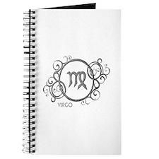 Silver Virgo Zodiac Sign Journal