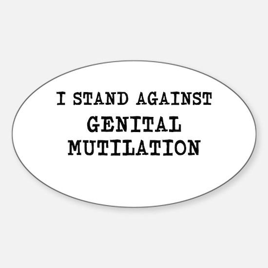 against mutilation Decal