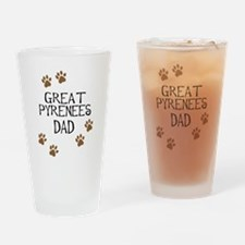 Great Pyrenees Dad Drinking Glass