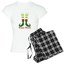 Personalizable Funny Elf Feet Pajamas
