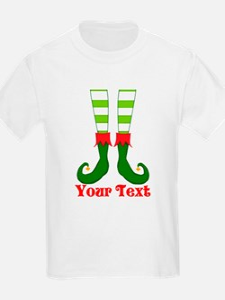 Personalizable Funny Elf Feet T-Shirt