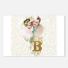 Monogram B Art Deco Lover Postcards (Package of 8)