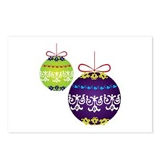 Xmas Decorations Postcards (Package of 8)