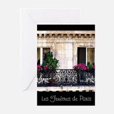 Windows Of Paris-Railing Greeting Cards (Pk of 20)