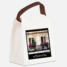 Windows Of Paris-Railing Canvas Lunch Bag