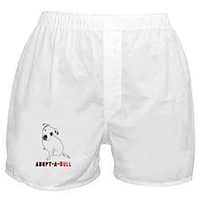 White Pitbull Puppy Adopt-a-Bull Boxer Shorts