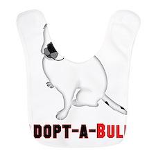White Pitbull Puppy Adopt-a-Bull Bib