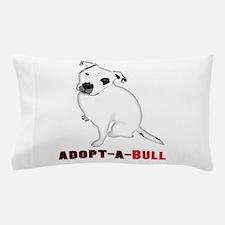 White Pitbull Puppy Adopt-a-Bull Pillow Case