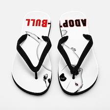 White Pitbull Puppy Adopt-a-Bull Flip Flops