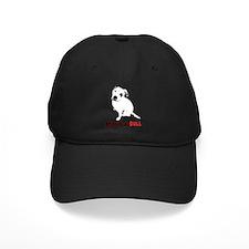 White Pitbull Puppy Adopt-a-Bull Baseball Hat