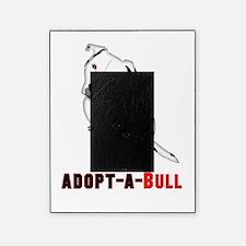 White Pitbull Puppy Adopt-a-Bull Picture Frame