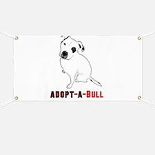White Pitbull Puppy Adopt-a-Bull Banner