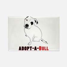 White Pitbull Puppy Adopt-a-Bull Magnets