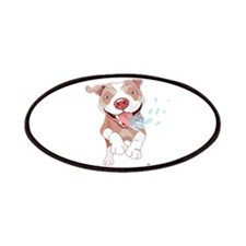 Warning Pitbull Licked to death Patches
