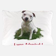 Smiling Pitbull Adopted Pillow Case