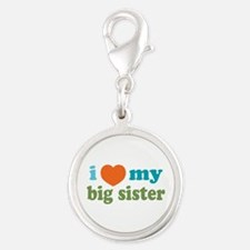 Love Big Sister Silver Round Charm