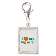 Heart Big Sis Silver Portrait Charm