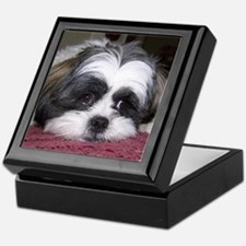 Shih Tzu Dog Photo Image Keepsake Box