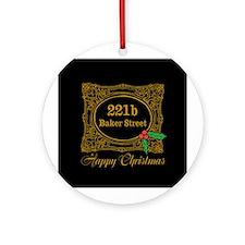 Baker Street Christmas Ornament (Round)
