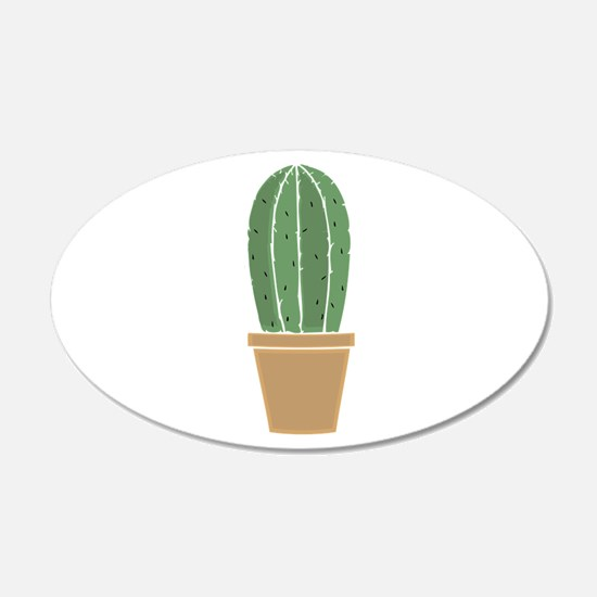 Potted Cactus Wall Decal