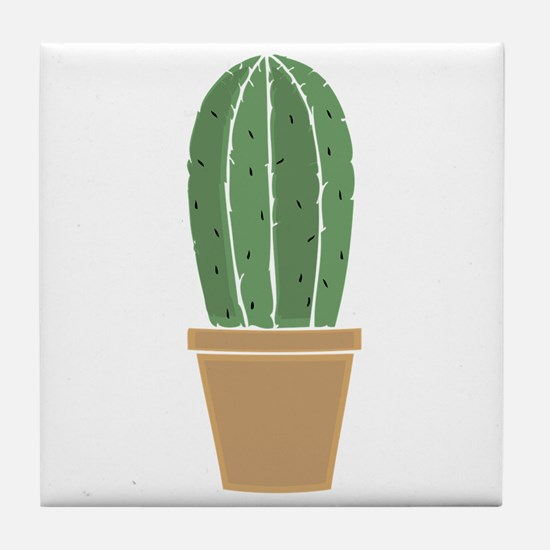 Potted Cactus Tile Coaster