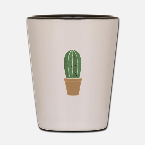 Potted Cactus Shot Glass