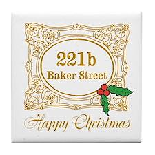 Baker Street Christmas Tile Coaster