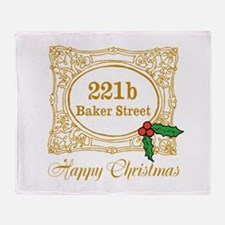 Baker Street Christmas Throw Blanket