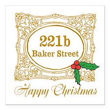 """Baker Street Christmas Square Car Magnet 3"""" x 3"""""""