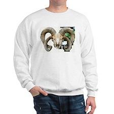 4 Horn Sheep Montage Sweatshirt