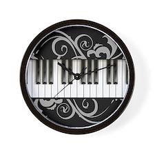 Piano Keyboard Wall Clock