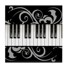 Piano Keyboard Tile Coaster