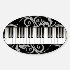 Piano Keyboard Sticker (Oval)