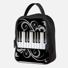 Piano Keyboard Neoprene Lunch Bag