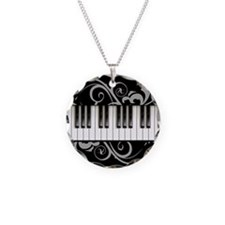 Piano Keyboard Necklace